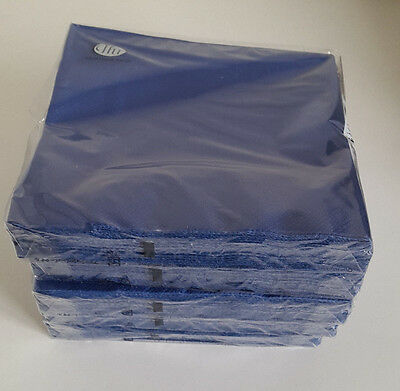 7 packs of Paper Napkins. Lunch 33x33cm. 3ply in Doublo Blue. DL 2540