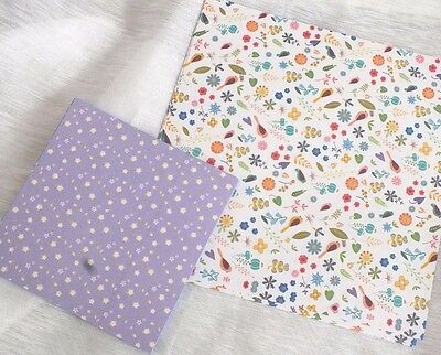 40 JAPANESE LILAC PASTEL COLOR FLORAL ORIGAMI PAPER 10 15cm CRAFT CHINESE PARTY