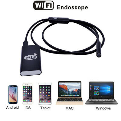 Wifi Wireless For iPhone Android Endoscope Borescope 2.0MP 8mm 2m Snake Camera