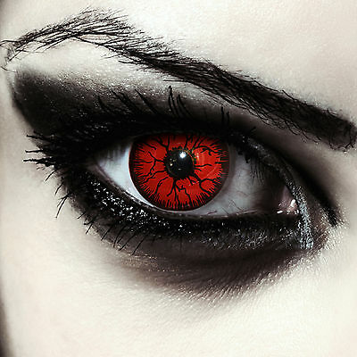 Scary red contacts for halloween zombie monster devil vampire costume lenses
