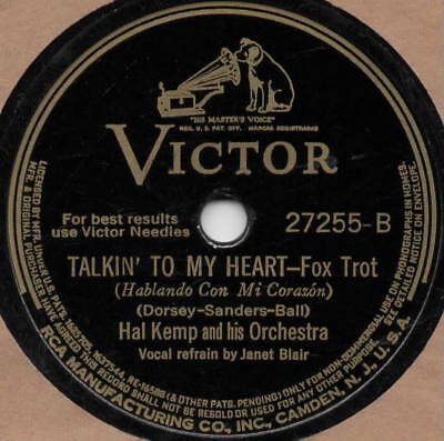 "78er Dance Music Swing Hal Kemp Orchestra ""It All Comes Back Now"""