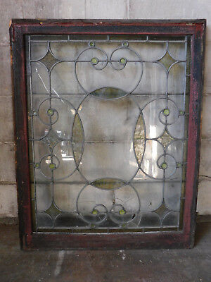 Antique Victorian Leaded Stained Glass Window - Circa 1895 Architectural Salvage
