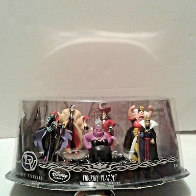 New DISNEY STORE VILLAINS DELUXE 6 FIGURINE PLAY SET or CAKE TOPPER