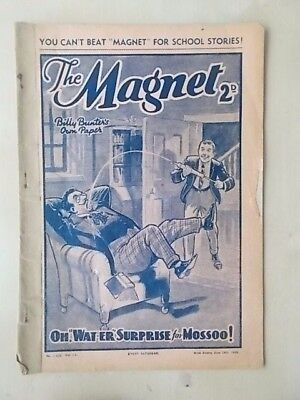 THE MAGNET - BILLY BUNTER'S OWN PAPER - VINTAGE BOYS COMIC - JUNE 24th 1939