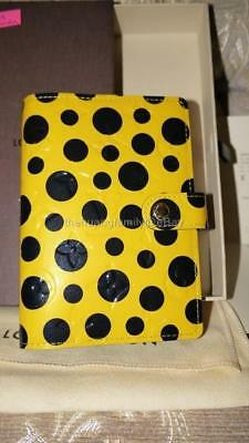 LOUIS VUITTON MONOGRAM VERNIS DOTS INFINITY YELLOW AGENDA YAYOI KUSAMA w/RECEIPT