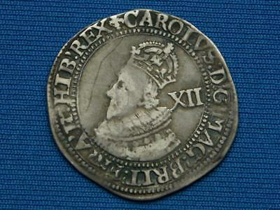Charles I Shilling - Group A - Bust 1 - mm lis