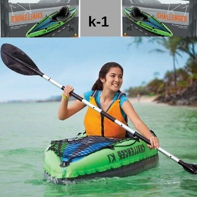 Canoeing Inflatable Challenger Kayaking K1 1 Person Sporting Goods Kayak Canoe
