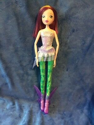 "WINX Club TECNA 11.5"" Deluxe Doll Sirenix Colour Change Hair RARE NO WINGS"
