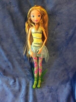 "WINX Club FLORA 11.5"" Deluxe Doll Sirenix Colour Change Hair RARE NO WINGS"