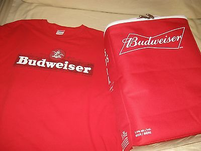 Budweiser Backpack Cooler And T-Shirt