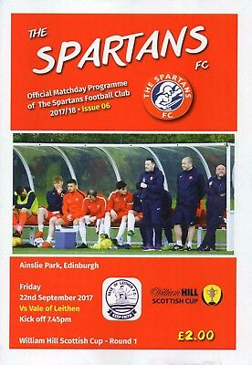 17/18 Spartans V Vale Of Leithen (Scottish Cup First Round)