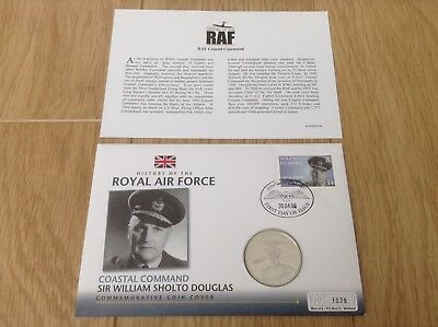 History Of The Raf Sir William Sholto Douglas £5 Coin Cover
