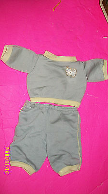 CABBAGE PATCH KIDS    DOLL CLOTHES, coleco grey kitty sweats