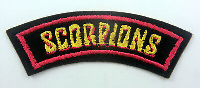 SCORPIONS SHOULDER PATCH Vintage Scorpions Embroidered Patch