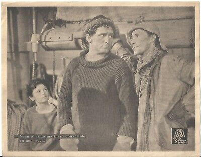 F27061 CAPTAINS COURAGEOUS SPENCER TRACY BARTHOLOMEW  orig MGM Lobby Card Spain
