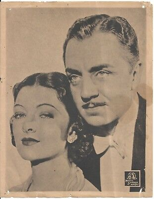 F27028 WILLIAM POWELL MYRNA LOY AFTER THE THIN MAN orig MGM Lobby Card Spain