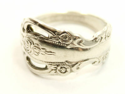 """Beautiful Antique Estate """"Spoon"""" Ring Size 7 in Sterling Silver by ONEIDA"""