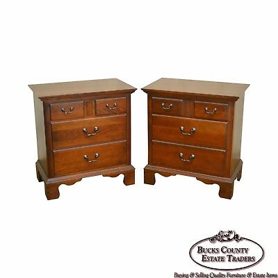 Pennsylvania House Traditional Cherry Wood Pair of Bedside Chests Nightstands