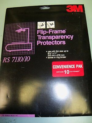 3M Flip-Frame Transparency Protectors with Pre-View RS7110/10 2 Packs (20 total)