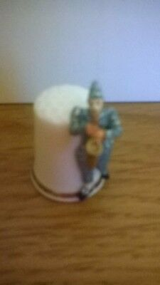 Sterling Classic Clown Thimble - Excellent condition!