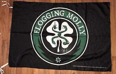 Flogging Molly Band Flag 42inches X 28 Inches Made In Italy 2007
