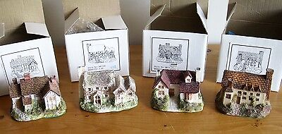 4x Ceramia Gifts of Quality Model Houses (Style Nos. 88114A, B, C & D) All Boxed