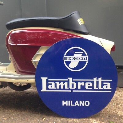 Lambretta Milano Sign Man Cave Workshop Christmas Gift
