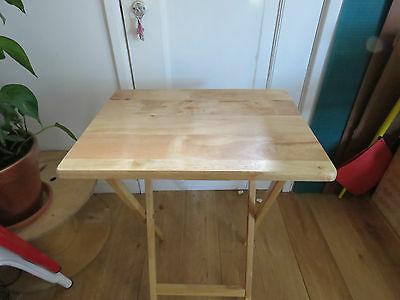 Folding / foldaway wooden table 48 x 36 x 66 cm