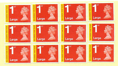 Gb 12 Signed For Large Letter Stamps £24.96 F/value Unfranked Off Paper With Gum