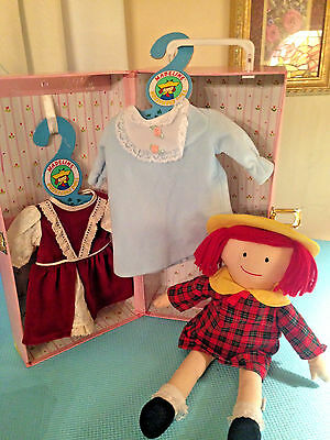 Madeline Doll Pink Case with Outfits Clothes