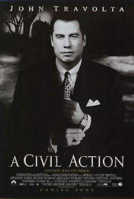 A Civil Action (1998) original movie poster double-sided rolled