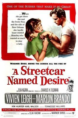 A Streetcar Named Desire (51) movie poster reproduction single-sided rolled
