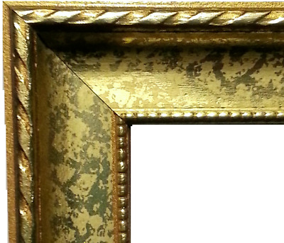 100 ft - Ornate Gold WOOD Picture Frame Moulding, Small Rope, Scoop, Beaded Lip
