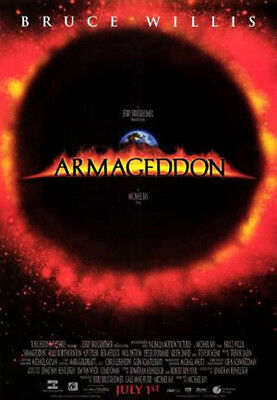 Armageddon (1998) movie poster reproduction single-sided rolled
