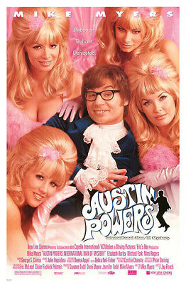 Austin Powers: Intl... (1997) movie poster reproduction single-sided rolled