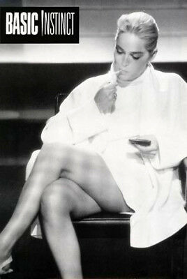 Basic Instinct (1992) movie poster reproduction rolled (Sharon Stone)