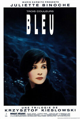 Blue (1993) movie poster french reproduction single-sided rolled