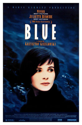 Blue (1993) movie poster reproduction single-sided rolled