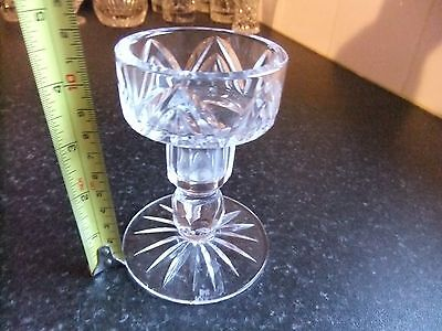 Tyrone Crystal Candle Holder. Excellent Condition.