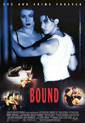 Bound (1996) movie poster international reproduction single-sided rolled