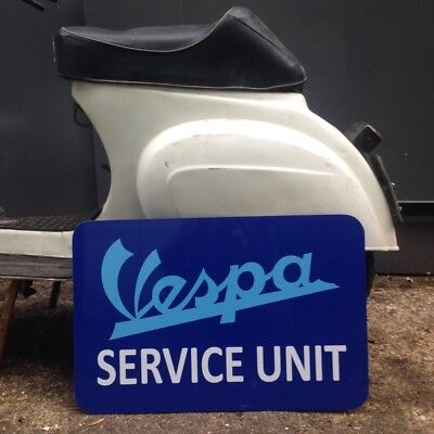 Vespa Service Unit Workshop Sign Man Cave Christmas Gift