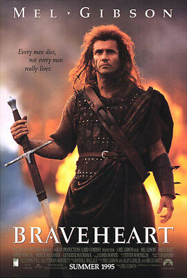 Braveheart (1995) movie poster advance reproduction single-sided rolled