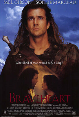 Braveheart (1995) movie poster intl. campaign A reproduction single-sided rolled