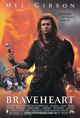 Braveheart (1995) original movie poster double-sided rolled