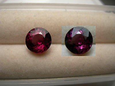 rare Grape Garnet color change gem Pyrope Purple Pink Magenta Tanzania 1.80ct rd