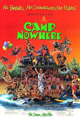 Camp Nowhere (1994) original movie poster rolled