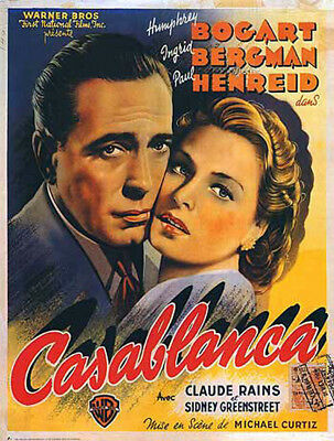 Casablanca (1942) movie poster belgium reproduction single-sided rolled