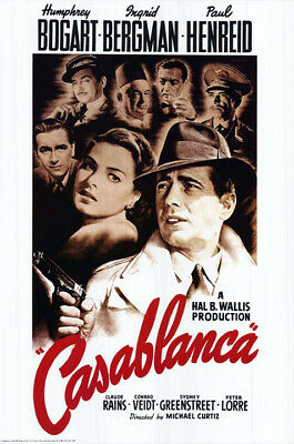 Casablanca (1942) movie poster british reproduction single-sided rolled