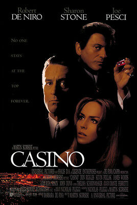 Casino (1995) original movie poster international double-sided rolled