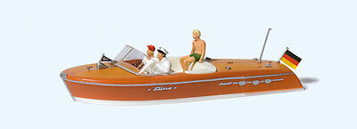 Preiser Motorboat with Crew 10688 HO Scale (suit OO also)